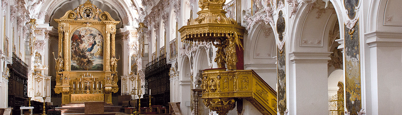 Inside the Cathedral of Freising