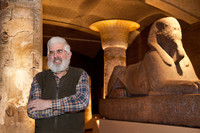 McGovern in the Lower Egyptian Gallery of the Penn Museum